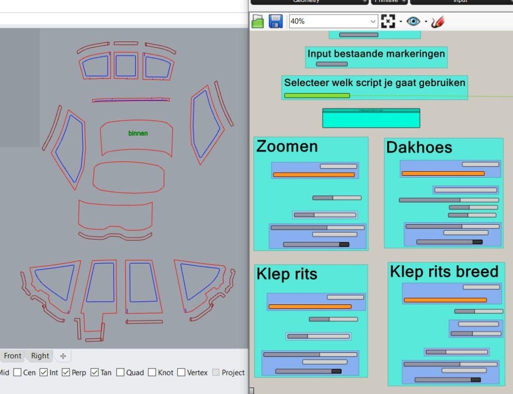 Script in gebruik om zoomen te genereren.